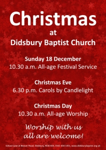 Christmas services 2016 poster